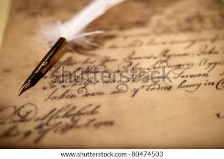 Vintage letter concept - stock photo