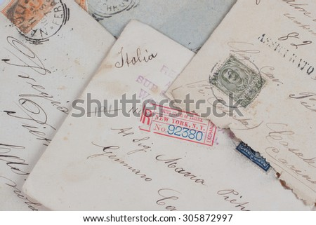 vintage letters from New York to Italy