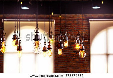 vintage lighting bulbs decor in ...
