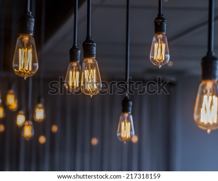 Vintage Lighting decor - Shutterstock ID 217318159