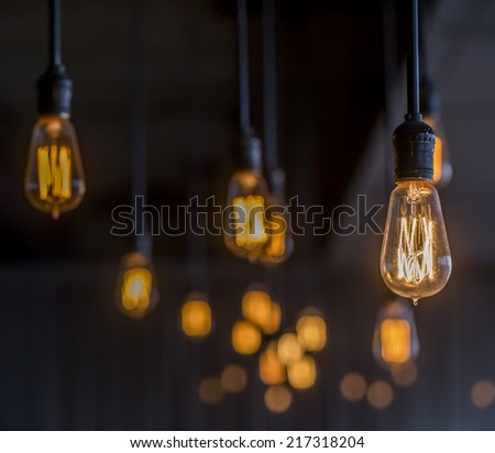 Vintage Lighting decor - Shutterstock ID 217318204