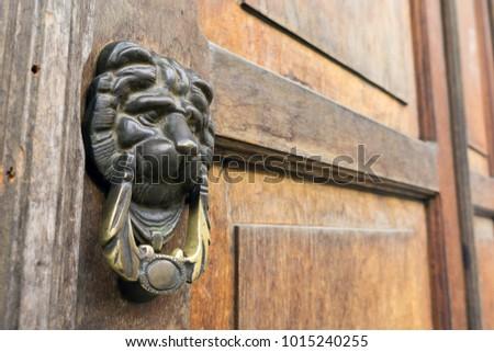 vintage lion head door knockers ...