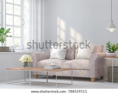 vintage living room 3d...