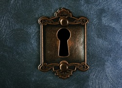 Vintage lock on swirled textured background