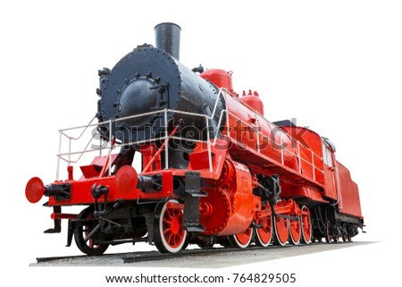 vintage locomotive red color...