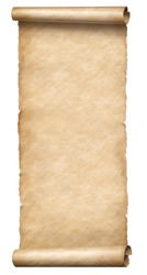 Vintage long scroll isolated on white