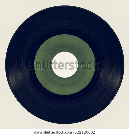 Vintage looking Vinyl record vintage analog music recording medium #522120832