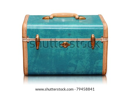 Vintage Luggage light blue