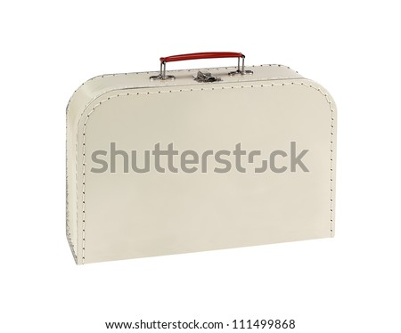 Vintage lunch box isolated on white background