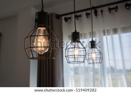 Vintage luxury interior lighting lamp for home decor. Foto d'archivio ©