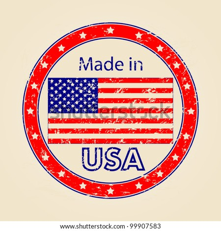 Vintage Made in USA Illustration