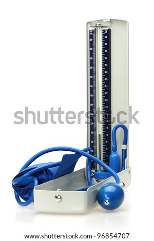 Vintage manometer - pressure gauge - stock photo