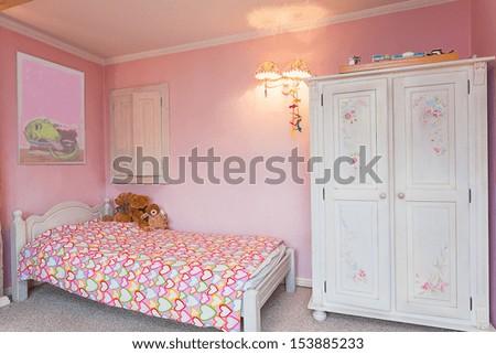 Vintage Mansion - A Pink Bedroom Of A Little Girl