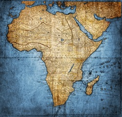 vintage map Africa