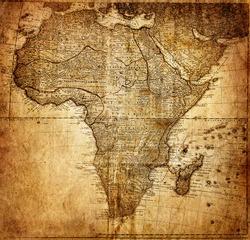 vintage map Africa (  mapmaker:?HAAS Johann Matthias ( Hasio ) , publisher: Homannianorum H, 1737 Nuremberg  Germany)