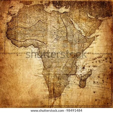 vintage map africa    mapmaker  ...