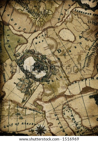 vintage map background - stock photo
