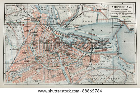 vintage map of amsterdam....