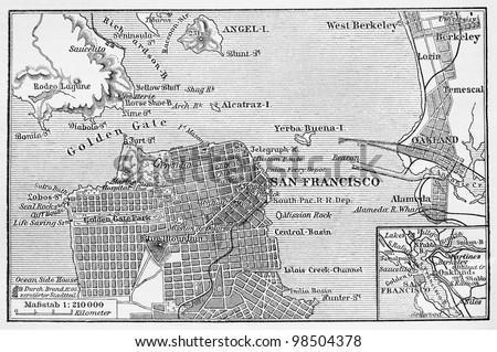 vintage map of san francisco...