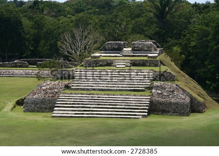 Vintage maya pyramid in Central America