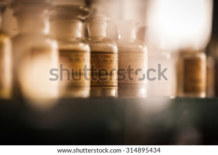 vintage medications in small...