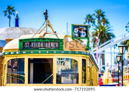 Vintage Melbourne W-Class Tram Images from Melbourne, Victoria, Australia