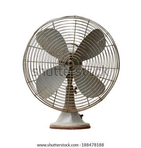 vintage metal fan isolated on white background #188478188