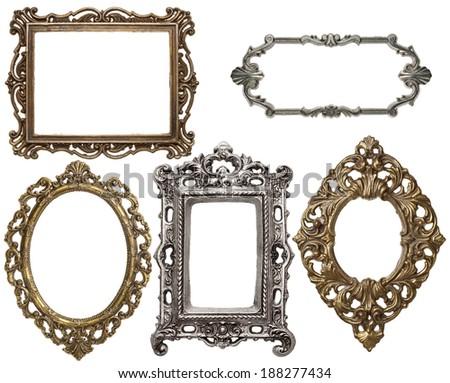 Free photos Vintage metal medallion frames, isolated.   Avopix.com