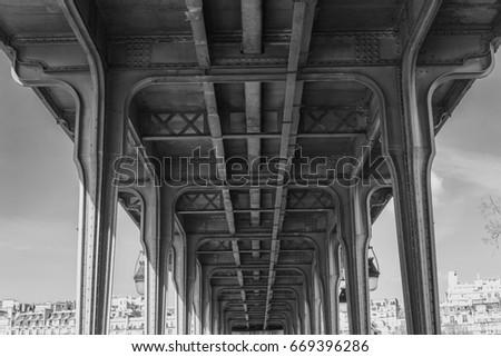 vintage metal metro bridge....