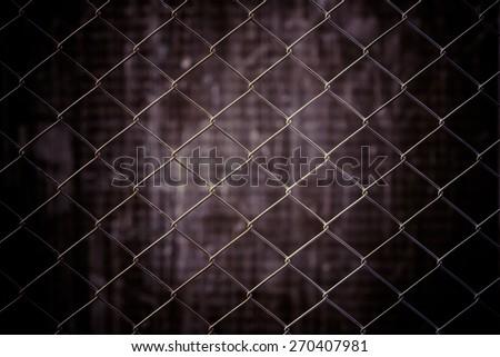 vintage metal net and grunge background #270407981