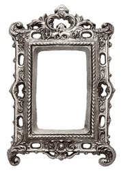Vintage metal picture frame, isolated