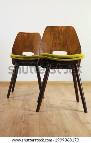 Vintage Mid Century Modern Lollipop Chair by František Jirák Made in Czechoslovakia in 1960's, Restored Foto d'archivio ©