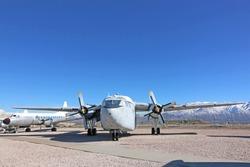 Vintage military airplane in Utah