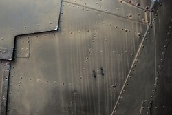Vintage Military Jet Fighter Metal Texture