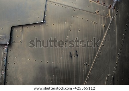 Vintage Military Jet Fighter Metal Texture #425565112