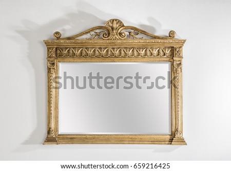 vintage mirror #659216425
