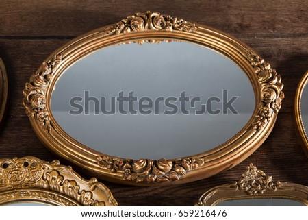 vintage mirror #659216476