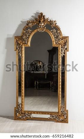 vintage mirror #659216482