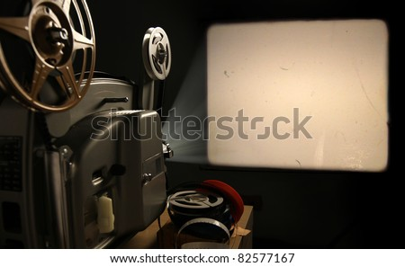 Vintage 8mm Film Projector with Blank Frame