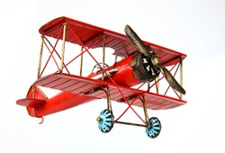 Vintage model airplane, retro style