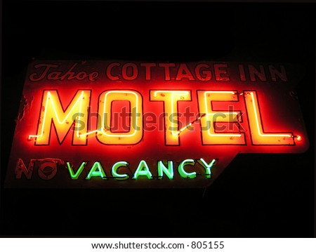 Vintage motel sign in America