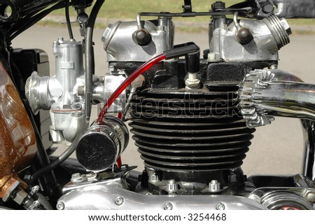 vintage motorcycle engine