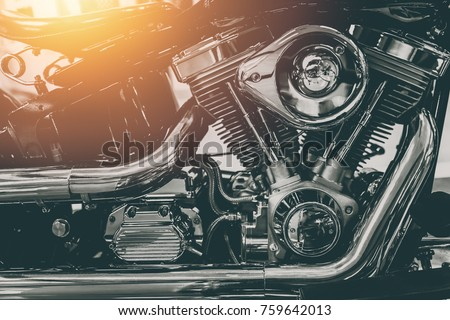 vintage motorcycle engine shiny chrome art photography #759642013