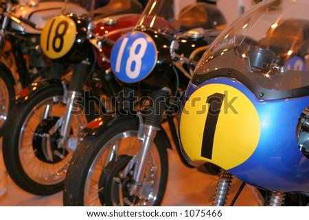 Vintage motorcycles - stock photo