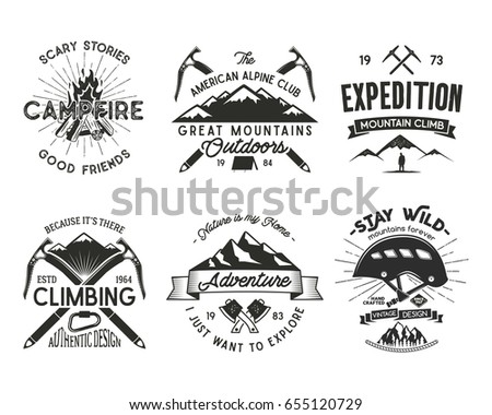 vintage mountaineering badges...