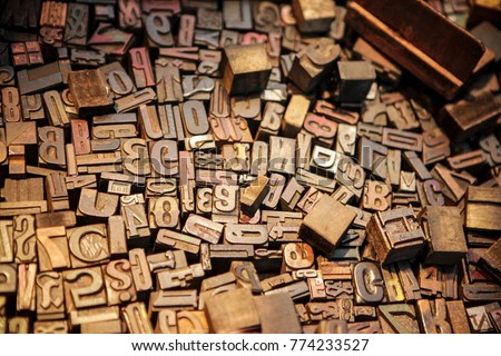 Photo of  Vintage movable types