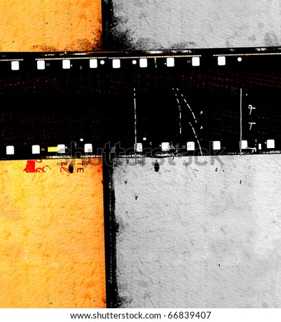 Vintage movie film strips for background
