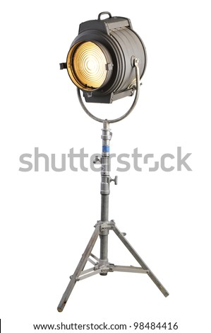 Vintage Movie Light on a stand