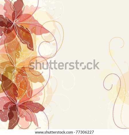 vintage multicolor floral design