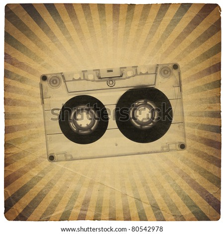 Vintage music abstract background - stock photo